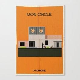 2.Mon oncle Directed Jacques Tati. Canvas Print