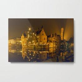 Night at Brugge Metal Print
