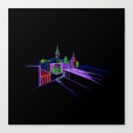 Vibrant city 3 Canvas Print