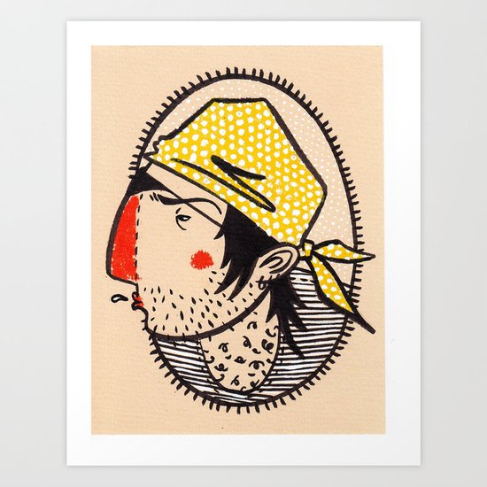 ...smelly scruffbag pirate Art Print