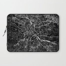 Krakow Black Map Laptop Sleeve