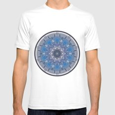 Blue Eye 1 White MEDIUM Mens Fitted Tee