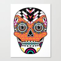 deco Canvas Prints featuring Deco Skull by Jorge Garza