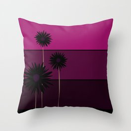 simple flowers - teal Throw Pillow