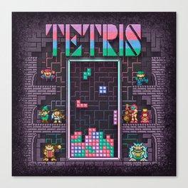 Tetrominoes Canvas Print