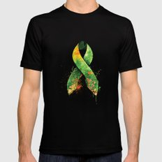 Nature Ribbon Black MEDIUM Mens Fitted Tee