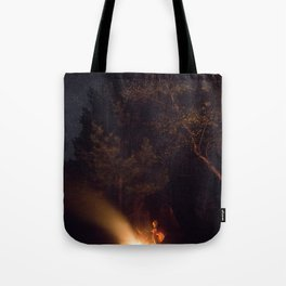 Night by campfire Tote Bag