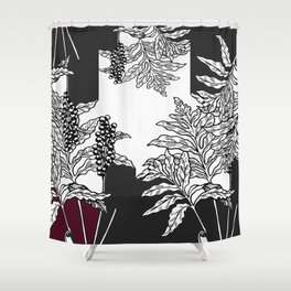 fern tasy leaves Shower Curtain