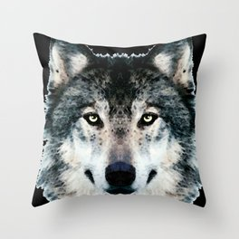 Wolf Art - Timber by Sharon Cummings Throw Pillow