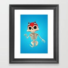 SkeleTony Framed Art Print