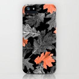Fall Leaves - Orange iPhone Case