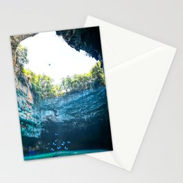 Sea Cave in Greece Stationery Cards