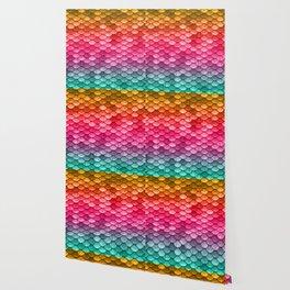 Mermaid Tail Fish Scales Wallpaper