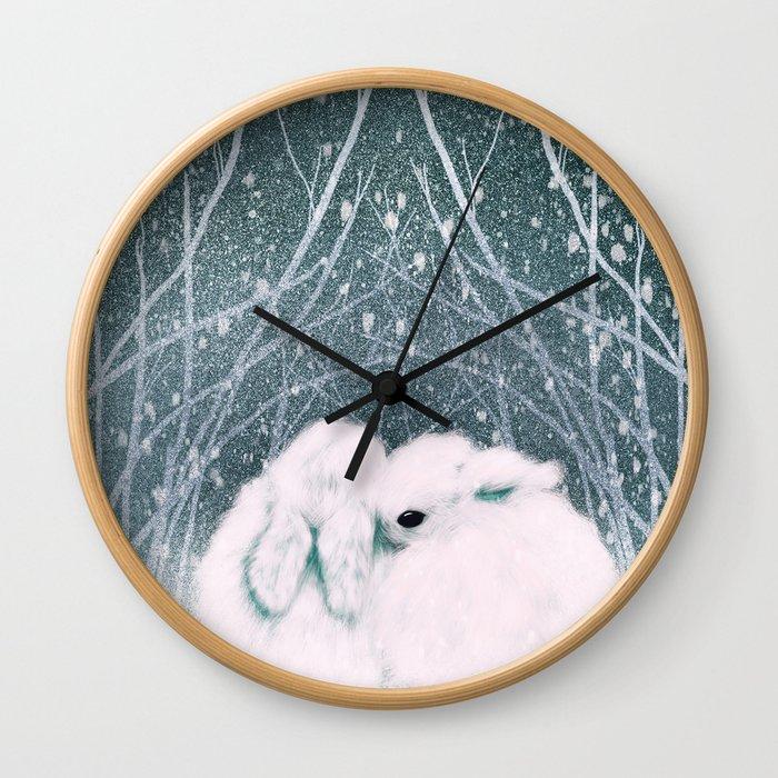 Baby Bun Buns Wall Clock