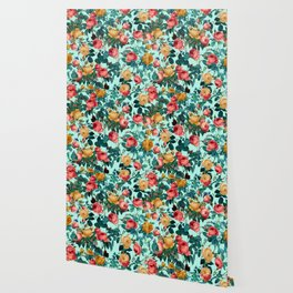 Spring-Summer Botanical Pattern II Wallpaper