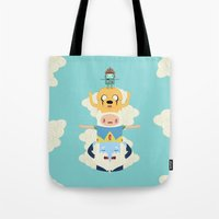 adventure Tote Bags featuring Adventure Totem by Daniel Mackey