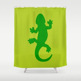 Green Lizard Shower Curtain