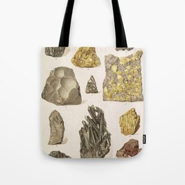 Vintage Gold Minerals Tote Bag