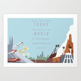 "Minimalist Magic-""Leave Today"" DAY Art Print"