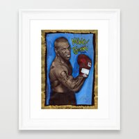 mike tyson Framed Art Prints featuring Mike Tyson by Ibbanez