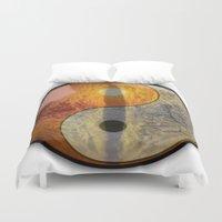 yin yang Duvet Covers featuring yin yang by Vector Art