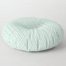 Knit Wave Mint Floor Pillow