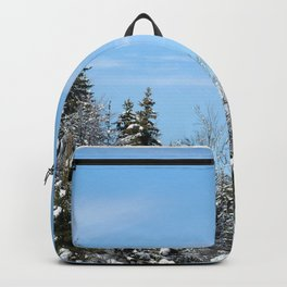 Trees in the snow Backpack