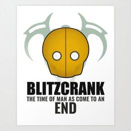 Blitzcrank w/ quote Art Print