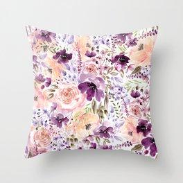 Floral Chaos Throw Pillow