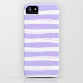Lavender Purple Gross Stripes iPhone Case