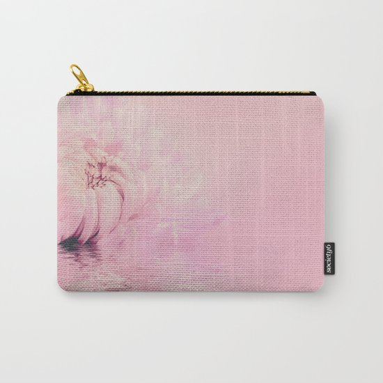 Romantic chrysanthemum flower soft pink pastel Carry-All Pouch