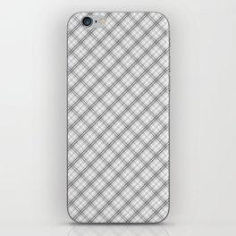 Ghost White and Black Halloween Tartan Check Plaid iPhone Skin