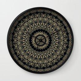 Gold Filigree Mandala Wall Clock