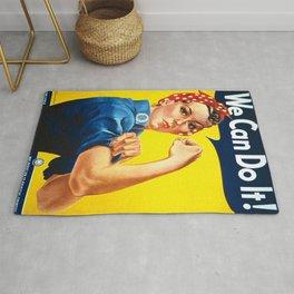 Vintage poster - Rosie the Riveter Rug