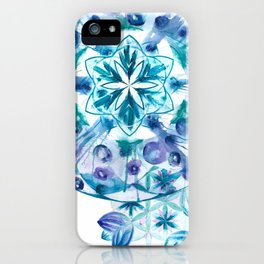 Snow Mandala iPhone Case