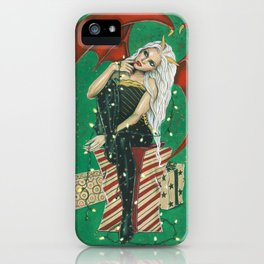 Naughty Or Nice Christmas Demon iPhone Case