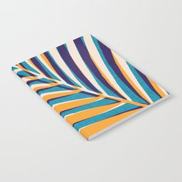 Gold and Navy Abstract Palm Frond Notebook