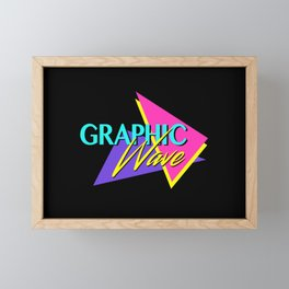 Graphic Wave / 80s Retro Framed Mini Art Print