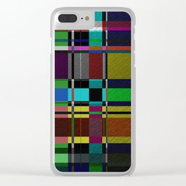 Retro Patchwork Clear iPhone Case