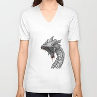 hydra V-neck T-shirts featuring Hydra by Sara Saeed