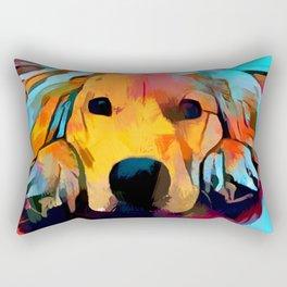Golden Retriever 4 Rectangular Pillow