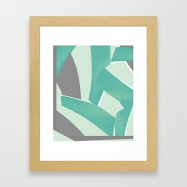 mint gris Framed Art Print