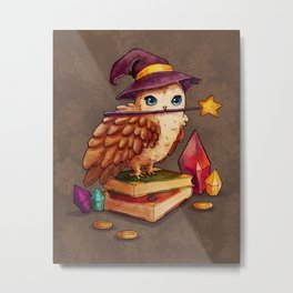 Owl Magic Metal Print