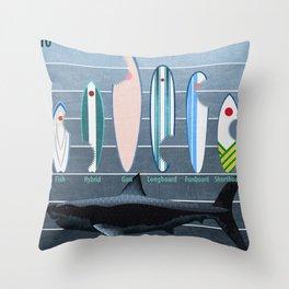 Shark Week - A balanced diet is essential  Throw Pillow