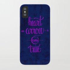 The heart is an arrow iPhone X Slim Case