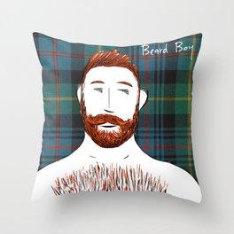 Beard Boy: Finlay Throw Pillow