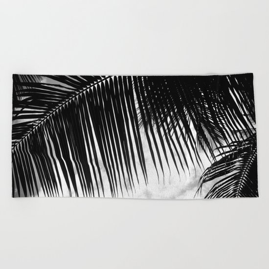 maui paradise palms hawaii monochrome Beach Towel