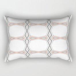 Simple Pastel Coral and Grey Diamond Geometric Rectangular Pillow