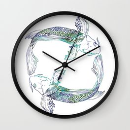 Pisces Swim Wall Clock