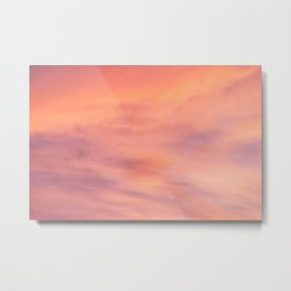 Purple Sky with Orange Clouds Metal Print